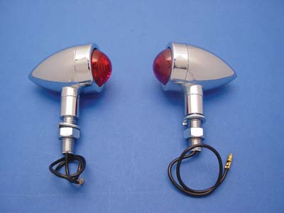 Mini Bullet Marker Lamp Set with Red Lens