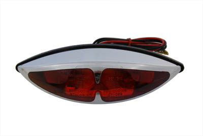 Chrome ABS Big Eye Red Lens Tail Lamp