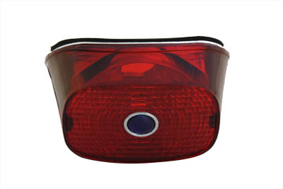 Tail Lamp Lens Red with Blue Dot