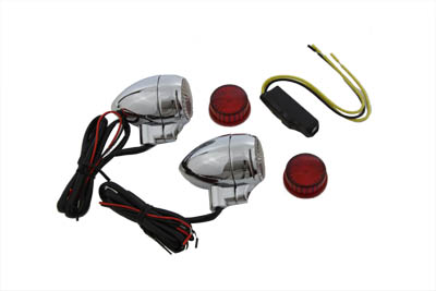 Clear Lens with Red LEDs Marker Lamp Set