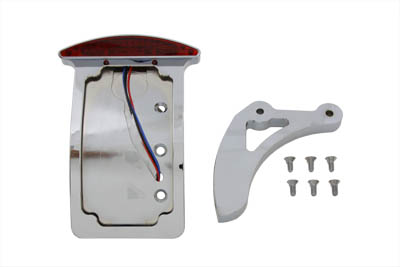 Chrome Curved Slice Style Tail Lamp Kit