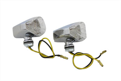 Micro Amber LED and Clear Lens Marker Lamp Set