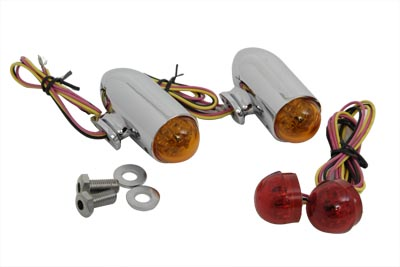 Bullet Marker Lamp Set with Red and Amber LEDs