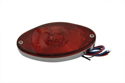 Thin Cateye Tail Lamp with Red Lens