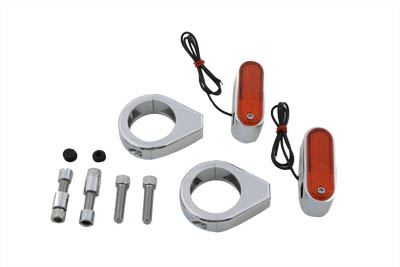 Turn Signal Kit Front with 41mm Fork Clamps