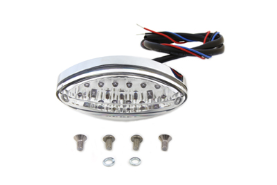 Chrome Oval Tail Lamp