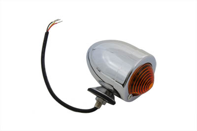 Chrome Bullet Marker Lamp Amber 3 Wire Type