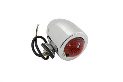 Chrome Bullet Marker Lamp Red 3 Wire Type
