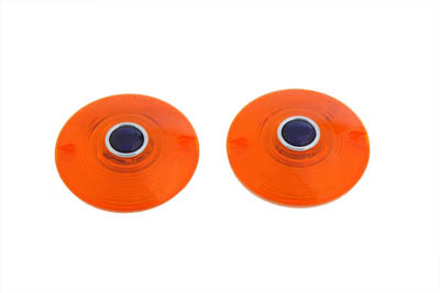 Turn Signal Lens Set Amber with Blue Dot