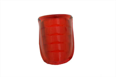 Tail Lamp Lens Beehive Style Plastic Red