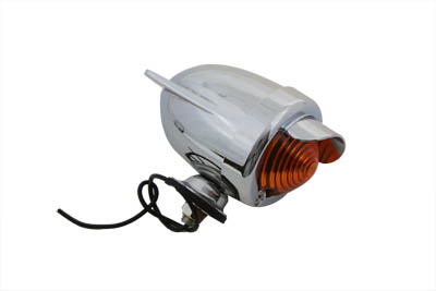 Chrome Bullet Marker Lamp with Visor