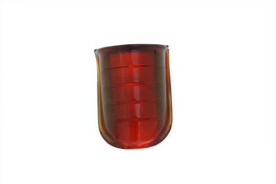 Tail Lamp Lens Beehive Style Glass Red