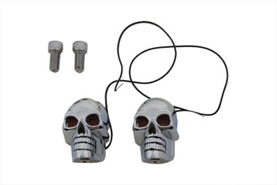 "2"" Chrome Skull Marker Lamp"