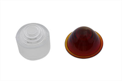 Tail Lamp Lens Set Cone Style Glass Red and Clear