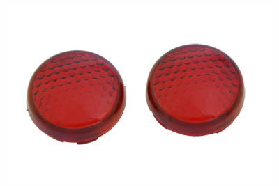 Turn Signal Lens Set Torpedo Style Red