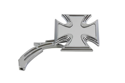 Maltese Mirror with Billet Skull Stem, Chrome