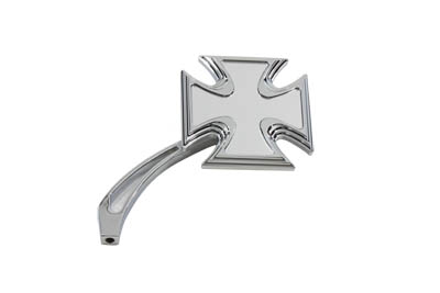 Maltese Mirror with Billet Maltese Stem, Chrome