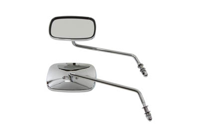Replica Swivel Mirror Set with Long Stem, Chrome