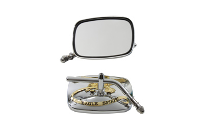 Eagle Spirit Mirror Set with Stock Stems, Chrome
