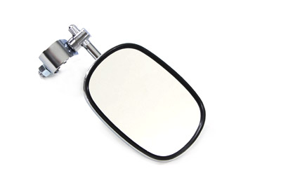Rectangle Mirror with Clamp On Stem, Chrome