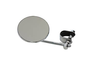 "4"" Round Mirror with Clamp On Stem Chrome"