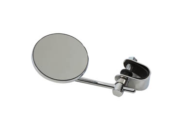 "3"" Round Mini Mirror with Clamp On Stem, Chrome"