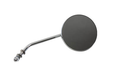 "4"" Round Mirror with Stud Stems, Chrome"
