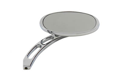 Cateye Mirror with Billet Girder Stem, Chrome
