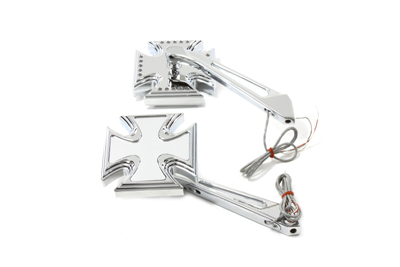 Maltese Mirror Set Billet Chrome