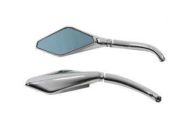 Cobra Style Mirror Set Chrome