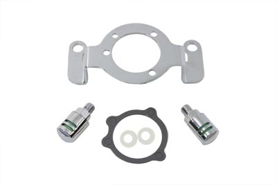 Breather and Bracket Kit Chrome