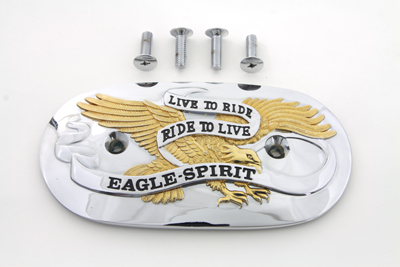 Eagle Spirit Oval Air Cleaner Insert Gold Inlay