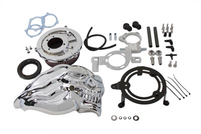Skull Air Cleaner Kit Chrome