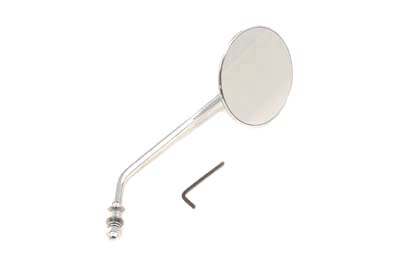 Round Mirror Stainless Steel with Billet Stem