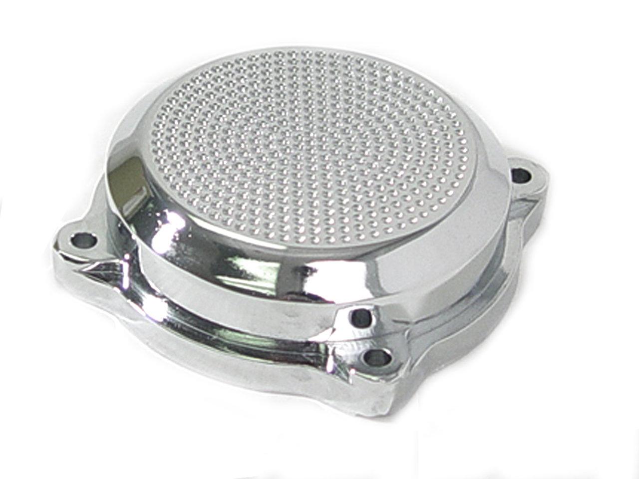 Perforated CV Carburetor Cover Chrome