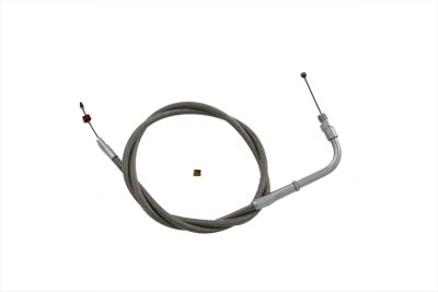 "36.75"" Braided Stainless Steel Throttle Cable"