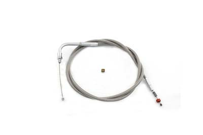 "45.375"" Braided Stainless Steel Idle Cable"