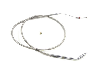 "37.625"" Braided Stainless Steel Idle Cable"