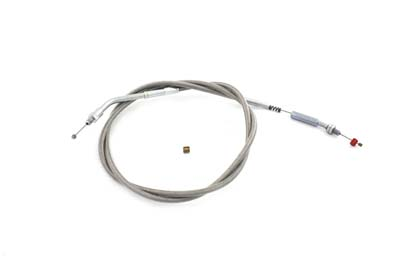 "Braided Stainless Steel Idle Cable with 46.50"" Casing"