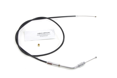 "Black Throttle Cable with 39-1/4"" Casing"