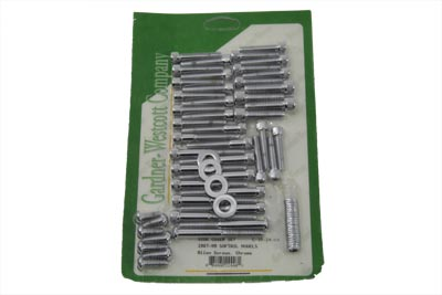 Cam and Primary Cover Dress Up Screw Kit Chrome