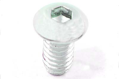 "Allen Button Head Screws Chrome 3/8"" X 2"""