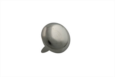 "7/8"" Round Saddlebag Spot Bright Nickel"