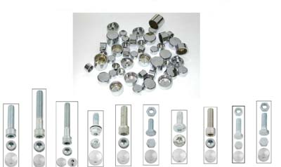 Chrome Bolt Cap 111 Piece Cover Kit