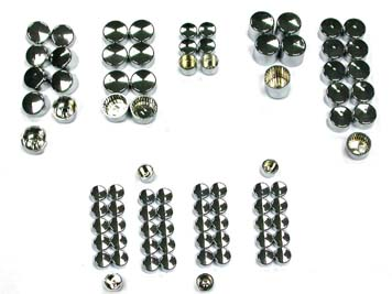 Chrome Bolt Cap 83 Piece Cover Kit