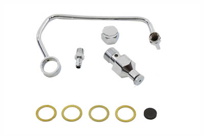 Fuel Petcock Shut-Off Rod Kit Chrome