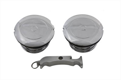 Flush Mount Style Gas Cap Set Vented and Non-Vented
