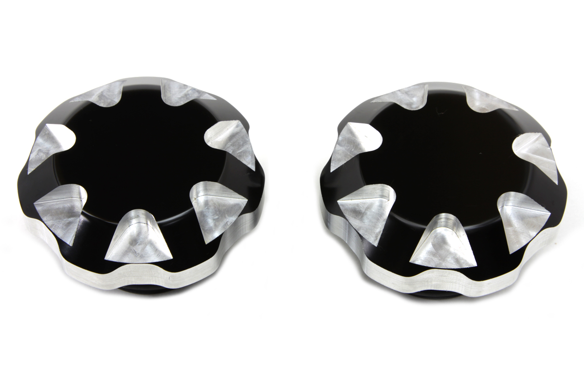 Black Tech Style Gas Cap Set Vented and Non-Vented