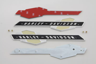 Gas Tank Emblems with Black/Silver Lettering