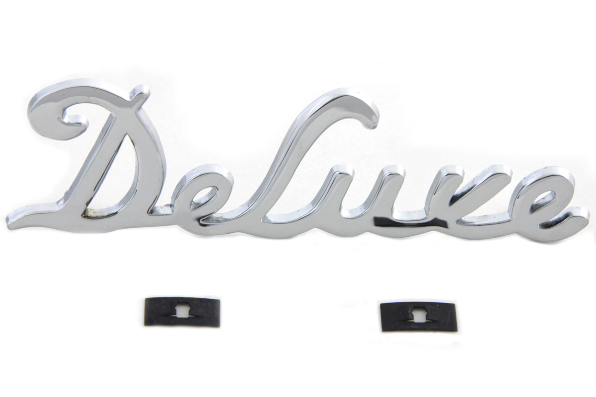 Chrome Deluxe Gas Tank Emblem